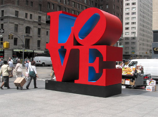 Love robert indiana urban comunicacion